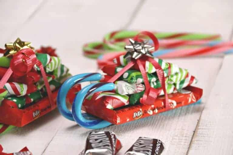 candy cane sleigh craft for kids
