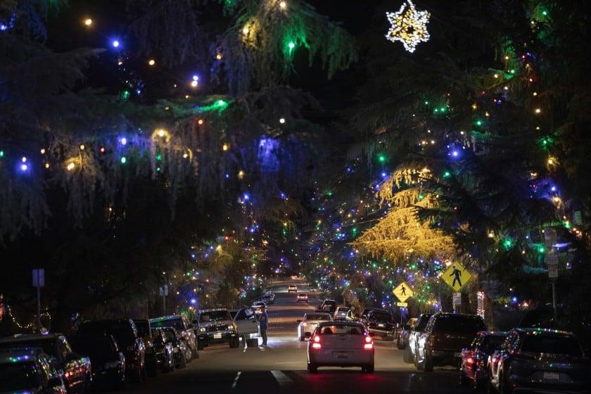 Christmas Tree Lane in Altadena