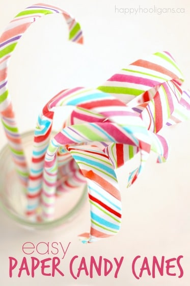 paper candy cane craft for children