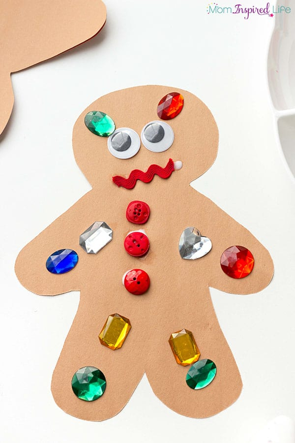 gingerbread decorating craft idea for toddlers