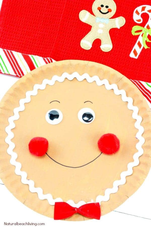 gingerbread paper plate craft idea