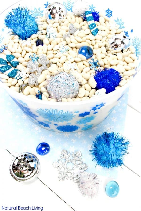 Simple sensory bin idea for kids
