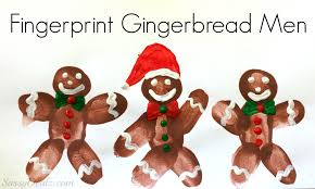 fingerprint gingerbread craft for kids