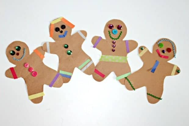 simple gingerbread craft for preschool
