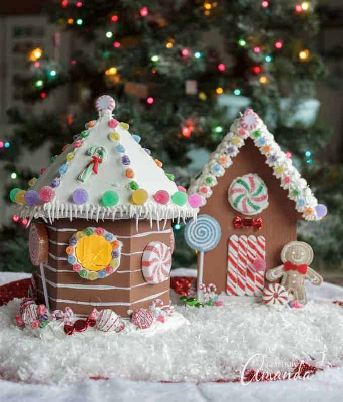 how to make a gingerbread house craft for kids