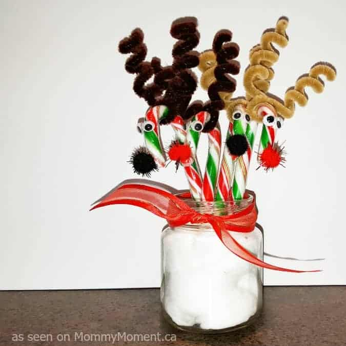 easy candy cane reindeer for kids