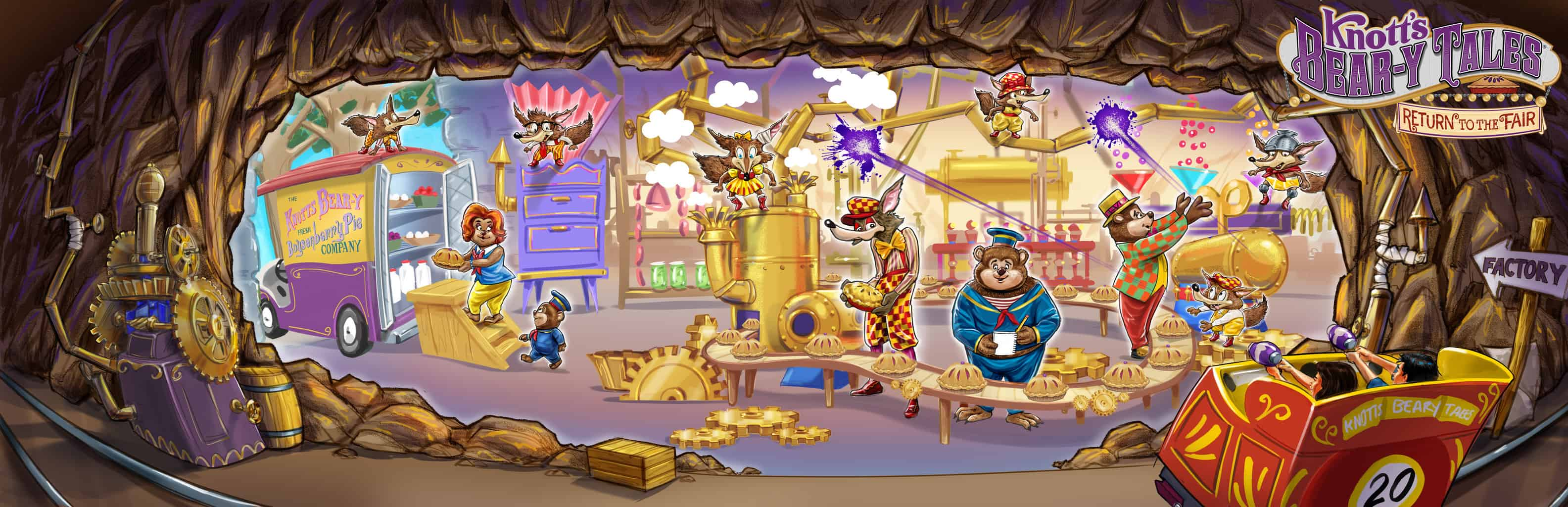 Do you love theme park rides? Check out the all new Knott'sBear-y Tales, an all-new 4-D interactive dark ride coming to Knott's Berry Farm in summer 2020.