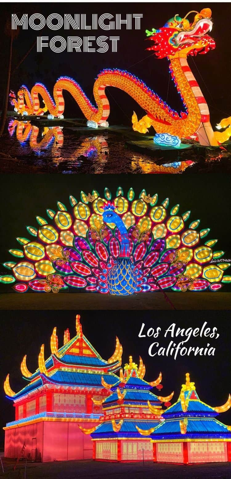 Are you looking for something fun to do this holiday season? Moonlight Forest at the LA Aboretum comes alive with a slew of Chinese lanterns that cover a field with gigantic-size structures, oriental themed archways and a variety of creatures that line the immersive pathway around the grounds.