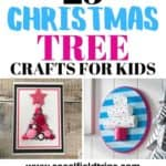 Are you looking for a fun holiday craft to do with kids? Then check out this list of 25 Easy Christmas Tree Crafts For Kids which includes trees made of pinecones, gumdrops, buttons and more.