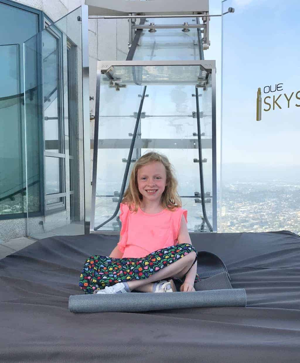 Girl on the OUE Skyspace LA