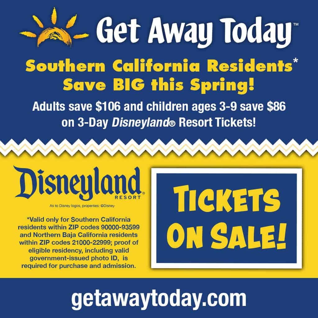 2020 Southern California Resident Disneyland Tickets