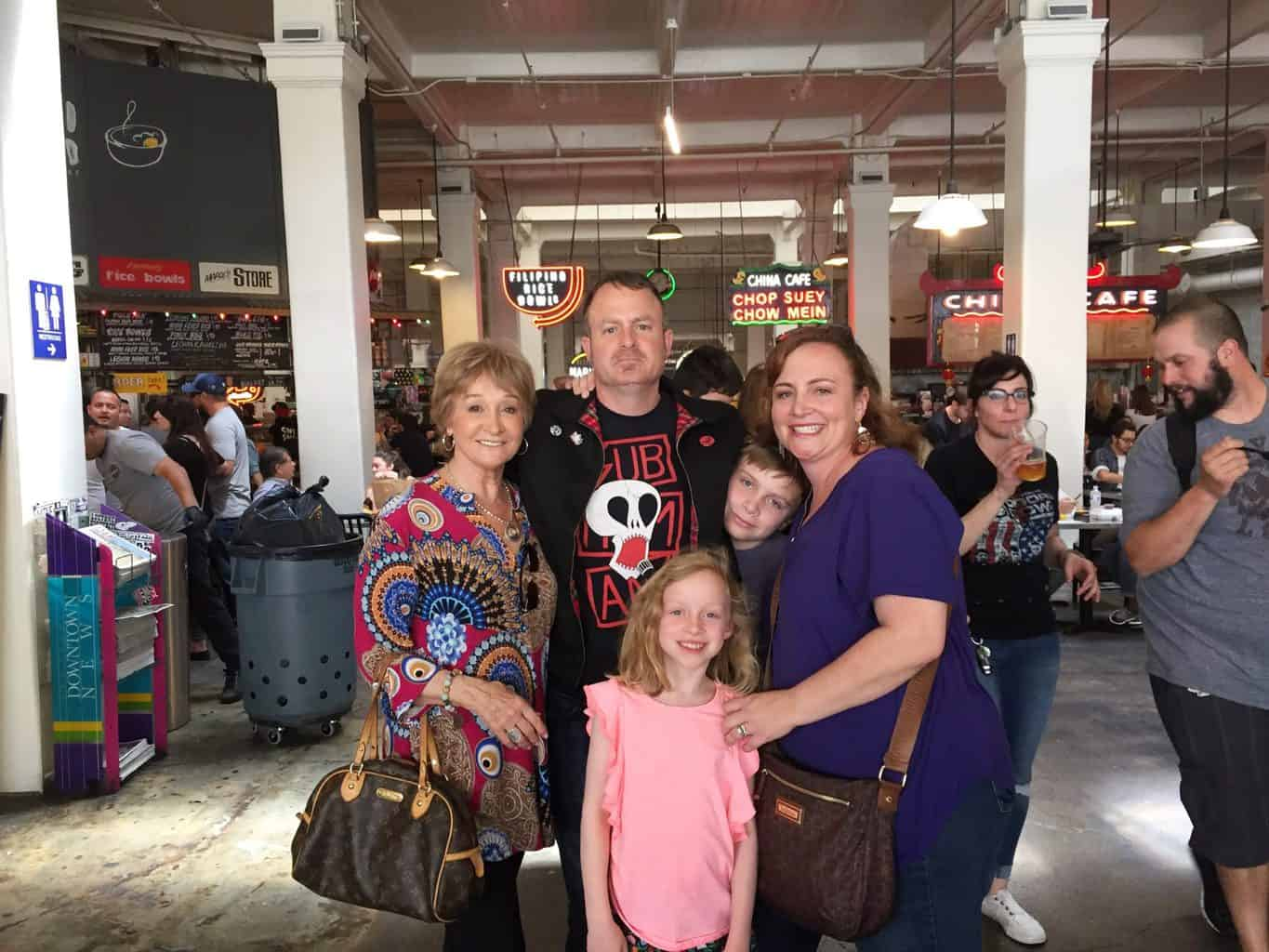Family at Grand Central Market Downtown LA
