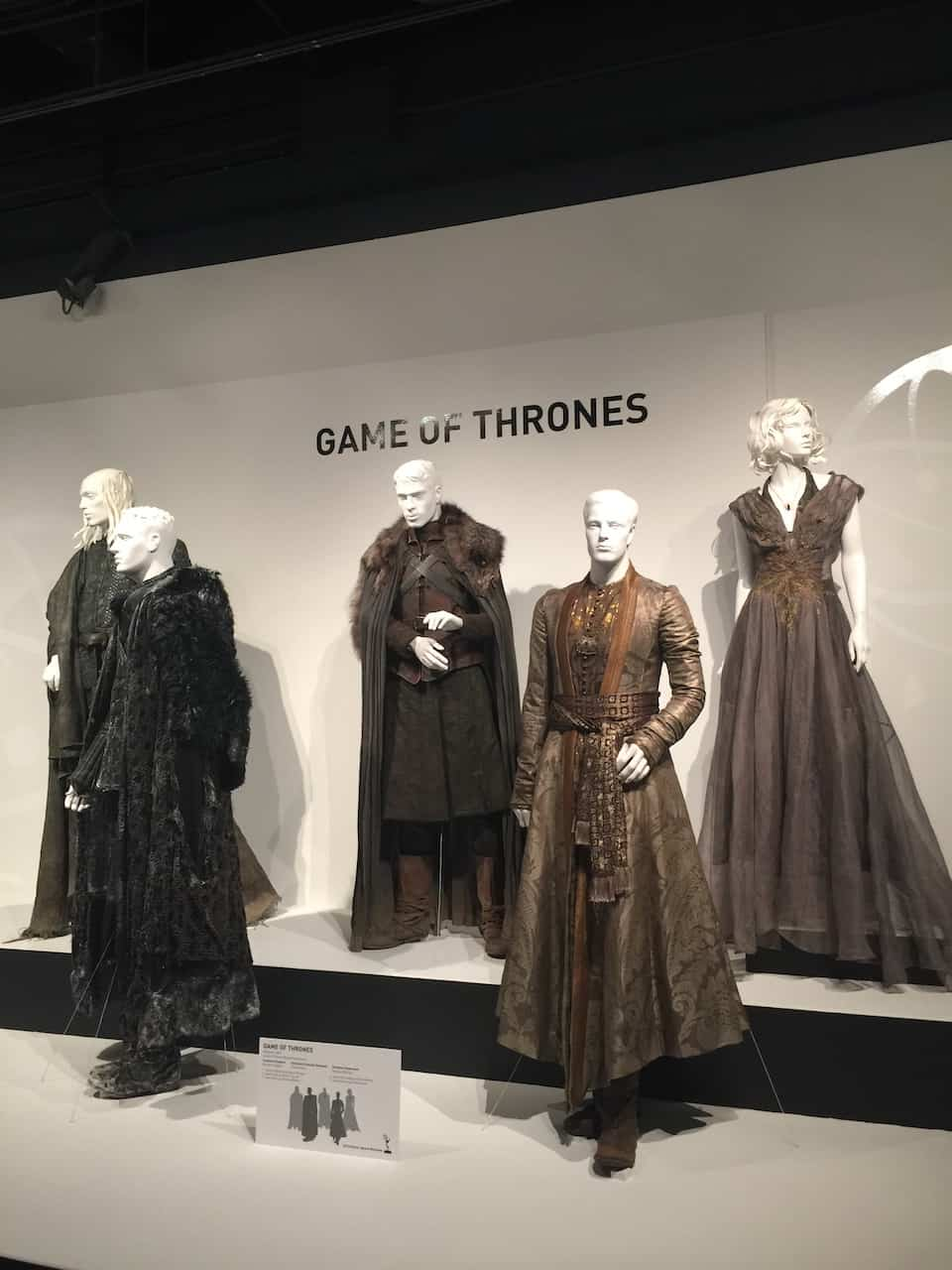Games of Thrones exhibit at the Fashion Institute of Los Angeles
