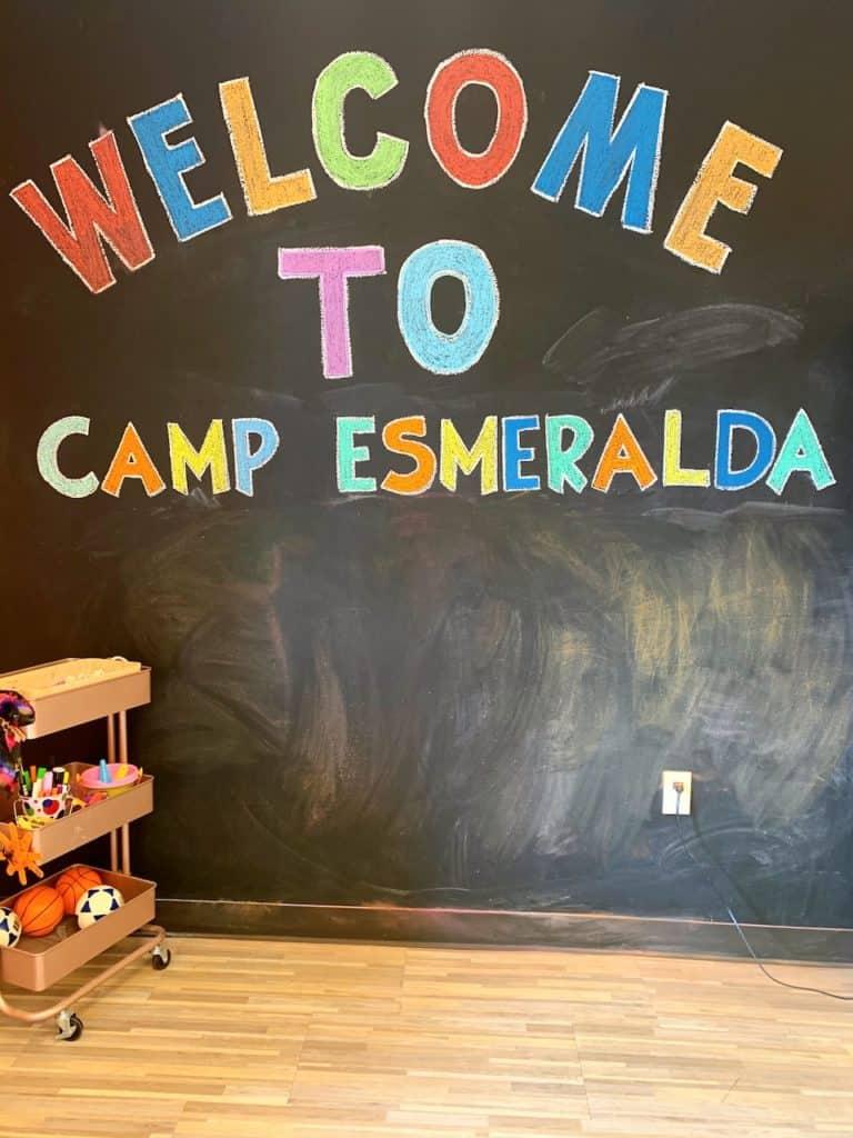 Childcare called Camp Esmeralda