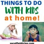 Check out this list of 101 things to do at home with kids during the Coronavirus including learning activities, online programs, crafts, games and more.