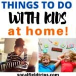 Check out this list of 101 things to do at home with kids at home including learning activities, online programs, crafts, games and more.