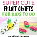 Check out this list of 15 Adorable Fruit Crafts for Kids bursting with all sorts of fun crafts and activities. We've got loads of ideas for you with everything from a cute watermelon fan to a strawberry counting game to a pop up pineapple card.