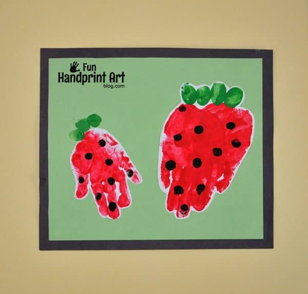 Strawberry Handprint Craft For Kids