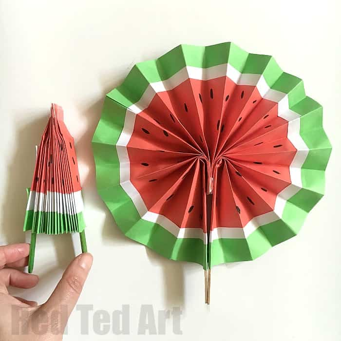 Watermelon Fan Craft For Kids