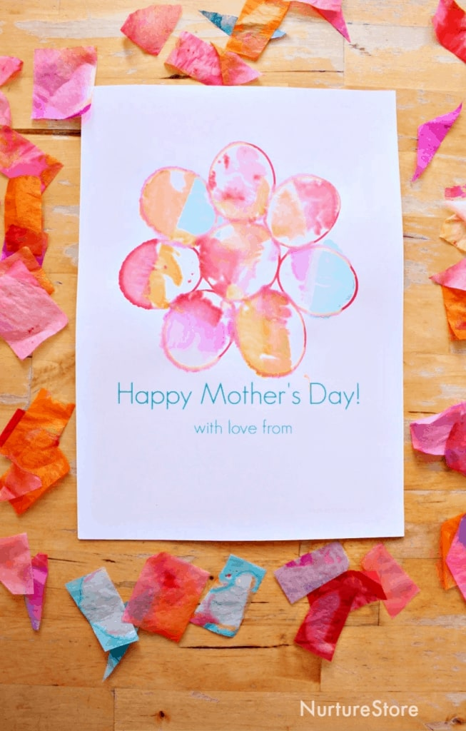 Easy Mother's Day Card with Free Printable
