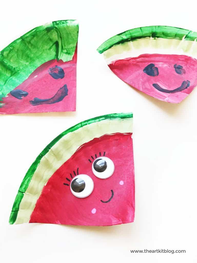 Watermelon paper plate graft