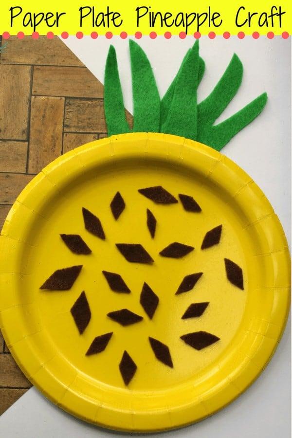 Easy Pineapple Craft For Kids