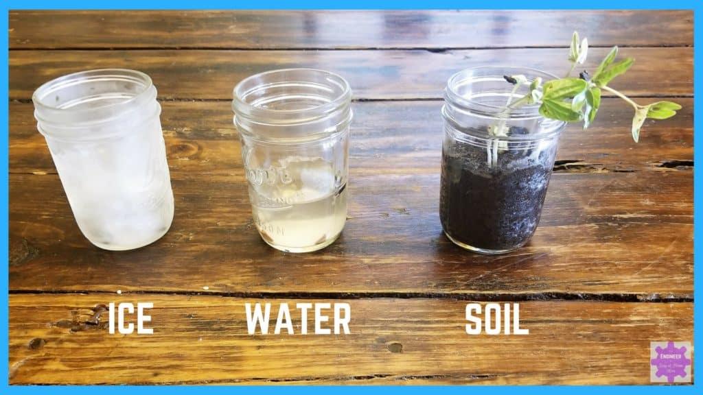 Easy outdoor preschool science experiment