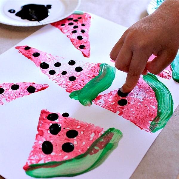Watermelon Fingerprint Craft