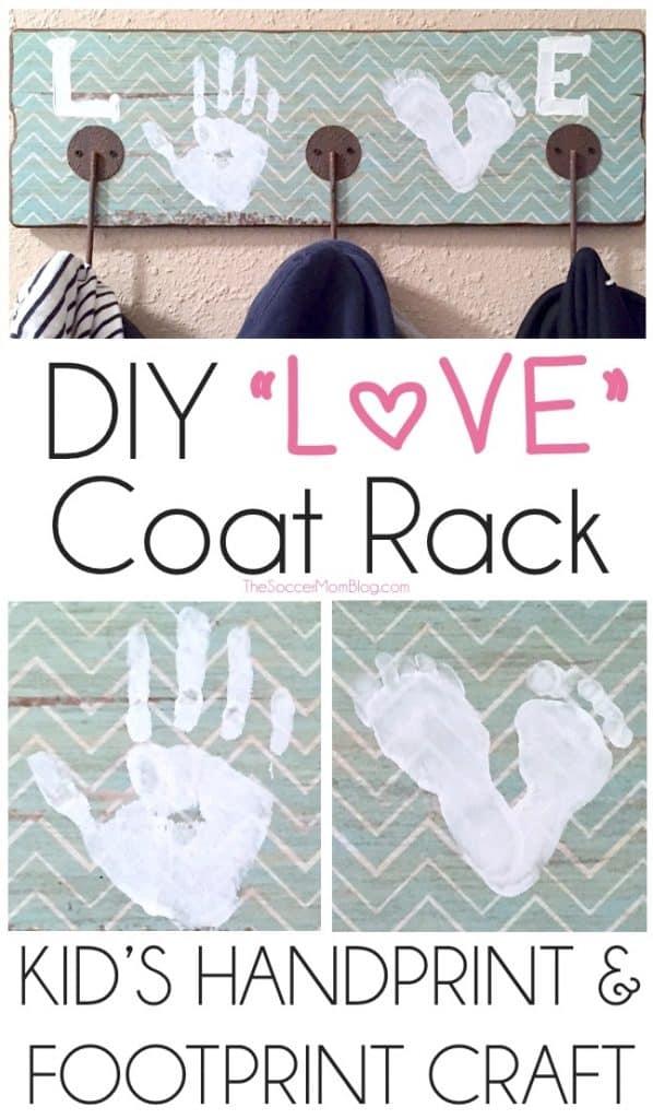Handprint Coat Rack Craft