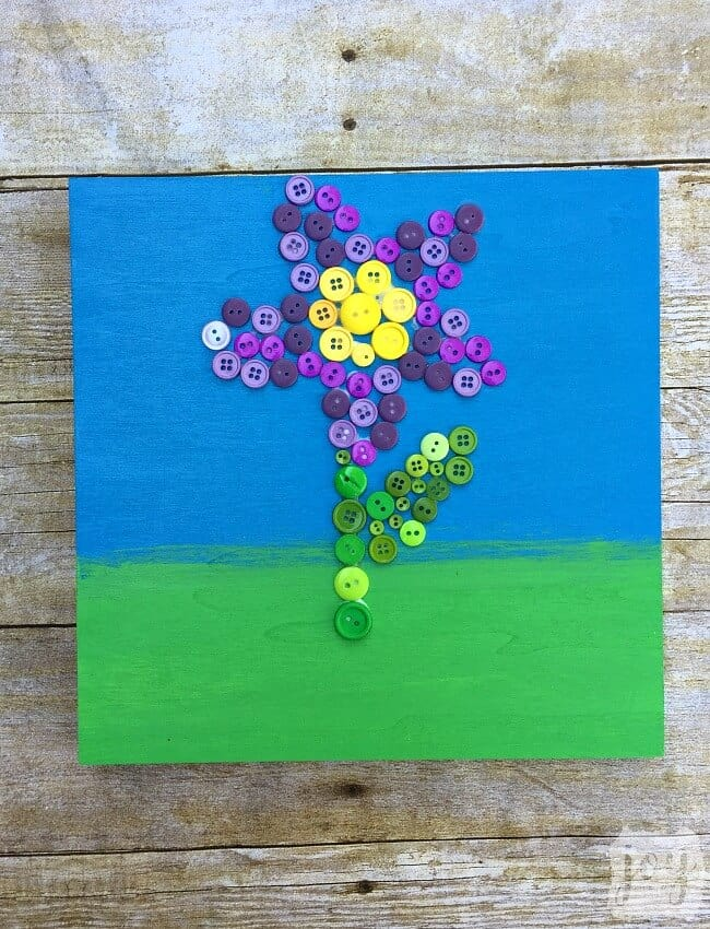 Button Flower Mother's Day Craft