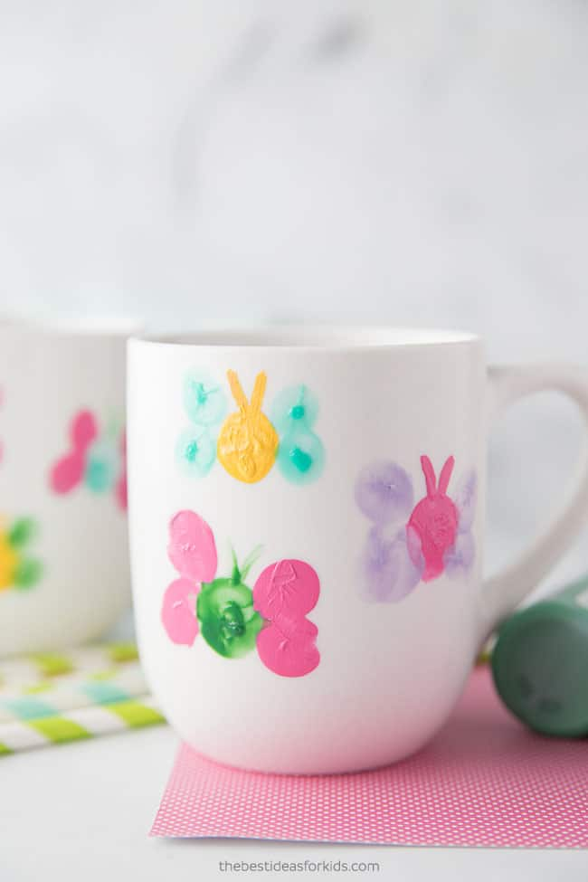 Mother's Day Butterfly Coffee Cup Craft