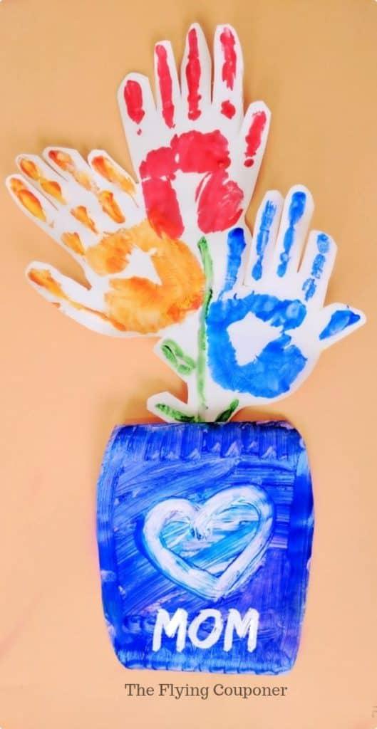Handprint Mother's Day Craft Fun