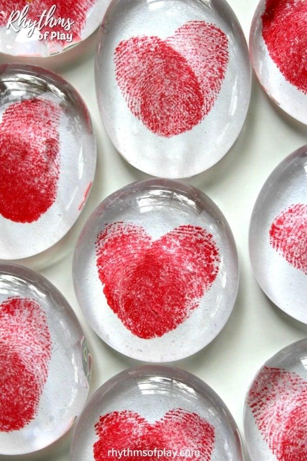 Thumbprint Heart Craft