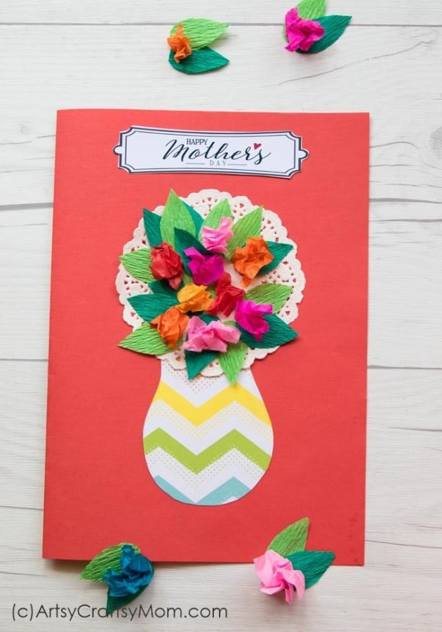 Crumbled Paper Mother's Day Craft