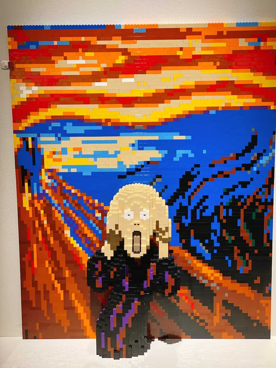 The famous artwork named Scream made out LEGOS