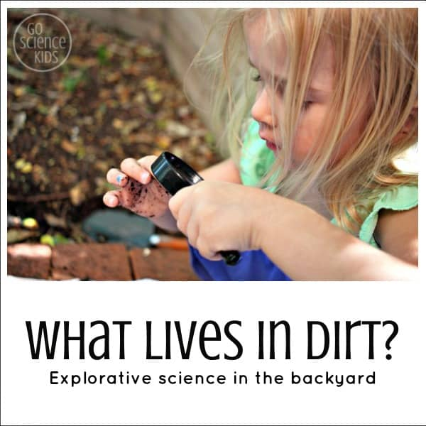 Outdoor dirt science experiment for homeschoolers