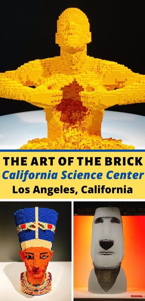 Hailed as the world's largest display of LEGO art, The Art of the Brick at the California Science Center in Los Angeles consists of one million LEGO bricks transformed into more than 100 sculptures. #lego #legos #artofthebrick #travel #familytravel #california #la #losangeles