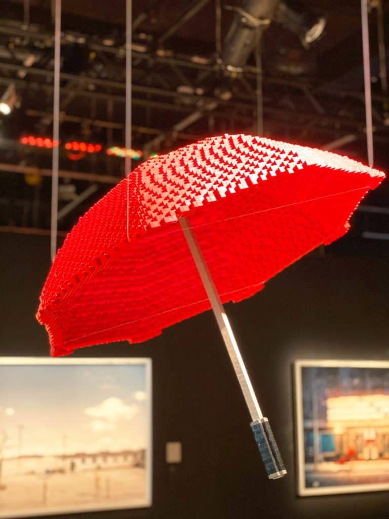 Umbrella made out of LEGOS