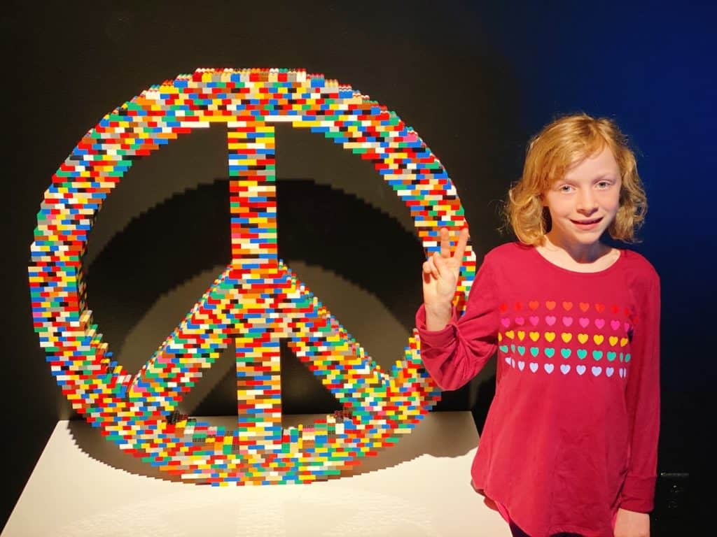Peace sign made out of LEGOS