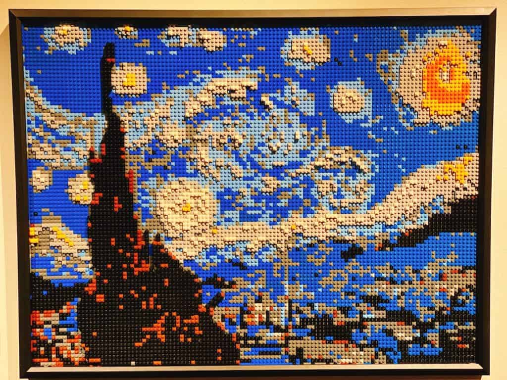Van Gogh's Starry Night made out of LEGOs