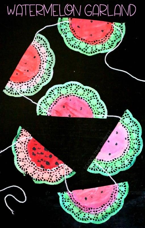 Watermelon Garland Craft For Kids