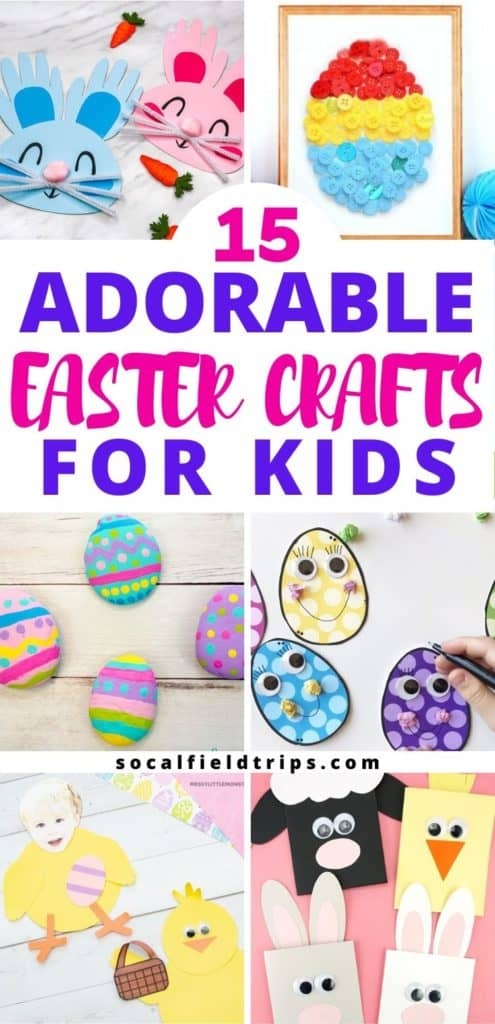 From handprint bunny crafts to Easter egg decorating ideas, these 15 Adorable Easter Crafts For Kids are perfect for toddlers, preschoolers, and kindergartners alike.  Many of these crafty creations can also double as festive decor for your Easter party, brunch, or dinner.