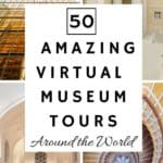 Many major museums around the world offer the ability for the public to see works in their collections online through what's called a virtual museum tour! The museum allows visitors to take self-guided, room-by-room tours of select exhibits and areas within the museum from their desktop or mobile device.  And the best part of all, it won't cost you a dime!