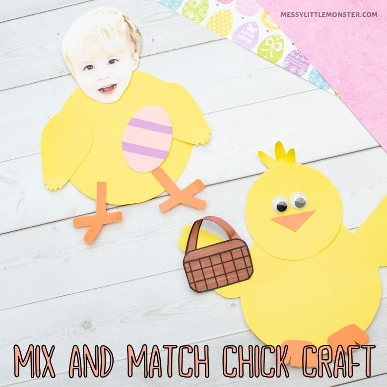 Easter Baby Chick Craft For Preschoolers