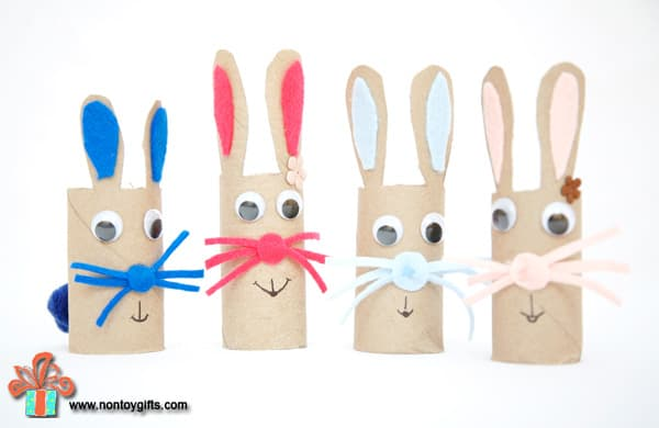 How to make an easter bunny out of a toilet paper roll
