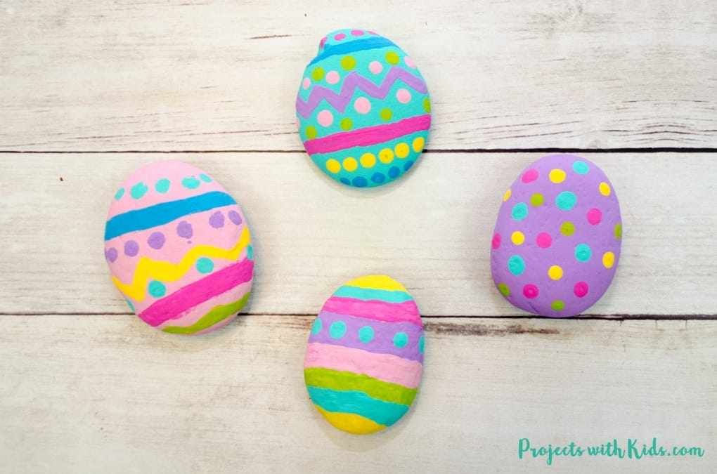 Easy Easter Egg Rock Painting Craft For Preschoolers