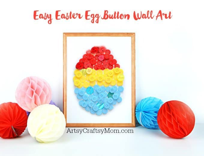 Easy Easter Egg Button Craft