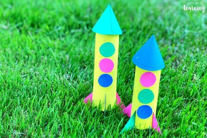 Toilet Paper Roll Rocket Ship Craft