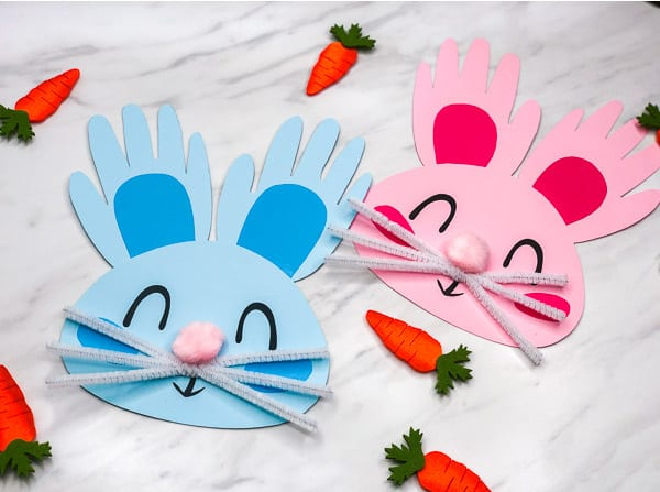 Hand[rint Easter Bunny Craft For Preschoolers