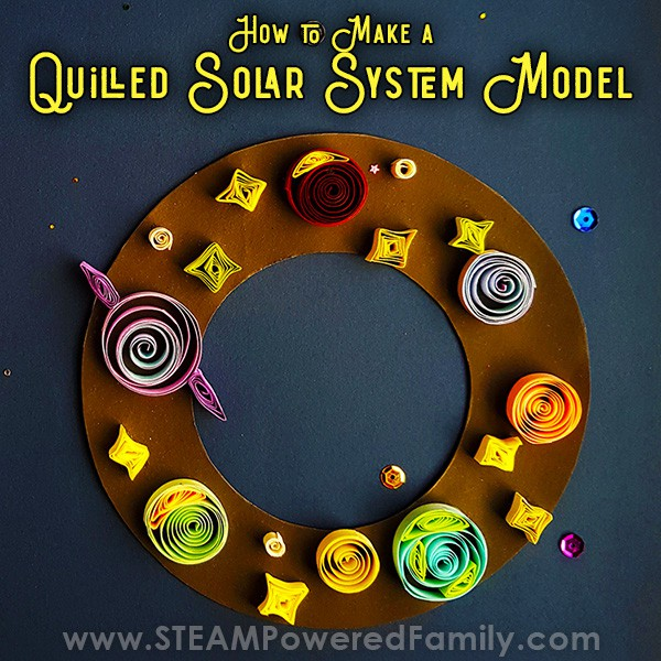 Paper Quilled Solar System Model